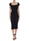 Dolcetto Dress In Black With Red Edges