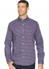 Long Sleeve Wear To Work Mini Plaid Woven Shirt