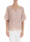 Rebrodè Lace Blouse In Pink