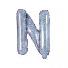 "Balon Folie Litera ""n"" Holografic 35cm"