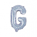 "Balon Folie Litera ""g"" Holografic 35cm"