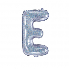 "Balon Folie Litera ""e"" Holografic 35cm"
