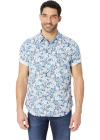 Short Sleeve Pineapple Print Woven Shirt
