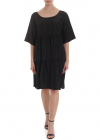 Oversized Dress In Black Satin