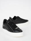Leather Platform Trace Sneakers