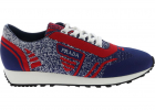 Knit 5 Sneakers In Blue And Red