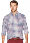 Long Sleeve Small Plaid Woven Shirt
