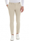 Beige Trousers With Slash Pockets