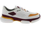 Sport Knit Sneakers In White And Burgundy