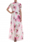 Floral Dress In White And Pink