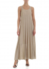 Ribbed Dress In Gold Color