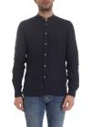 Mandarin Collar Shirt In Blue