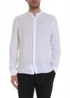 Mandarin Collar Shirt In White