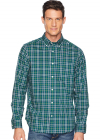 Long Sleeve Wear To Work Medium Yarn dyed Plaid Woven Shirt