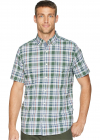 Short Sleeve Poplin Plaid Woven Shirt