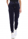 Blue Chenille Trousers With Logo