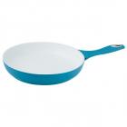 Tigaie Cu Interior Ceramic Kinghoff Kh 3992 bl  Diametru 22 Cm  Inductie  culoare: Albastru