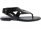 Glossy Sandals In Black