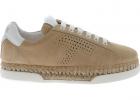 Raffia Sneakers In Beige