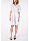 Cotton Blend Shirt Dress