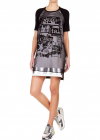 Silk Chiffon T shirt Dress