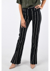 Stripped Wide Leg Pants