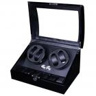 Cutie Pentru Intors Ceasuri Automatice Iuni Watch Winder 4 + 6 Spatii Depozitare  Carbon
