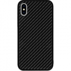 Husa Capac Spate Carbon Glass Negru Apple Iphone X