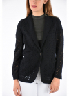 Embroidered Relaxed Fit Blazer