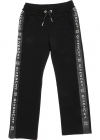 Black Tracksuit Pants With Logo Bands