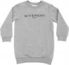 Vintage Givenchy Printed Dress In Grey
