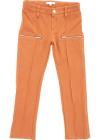 Sweatpants With Zip In Rust Color