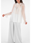 Silk Frilled Blouse