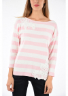 Blugirl Embroidered Striped Sweater