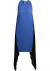Bluette Pleated Dress With Black Drapery