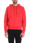 Diag Unfinished Slim Hoodie In Red