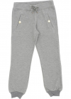 Grey Sweatpants With Golden Buttons