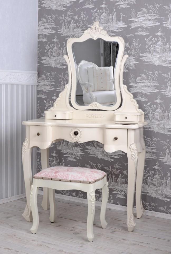 SEA51 - Set Masa Ivory toaleta cosmetica machiaj oglinda masuta