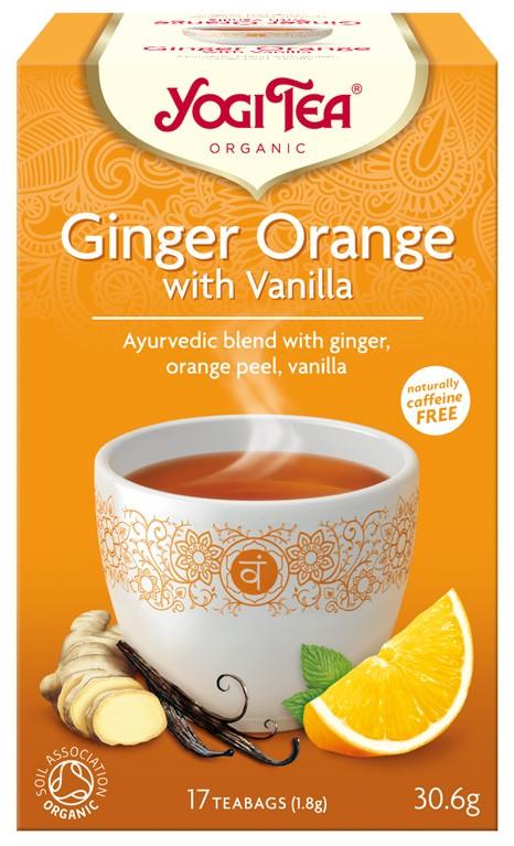 Ceai Bio GHIMBIR CU PORTOCALE SI VANILIE Yogi Tea, 30.6g