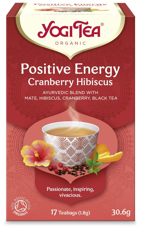 Ceai Bio ENERGIE POZITIVA Merisor & Hibiscus Yogi Tea, 30.6 g