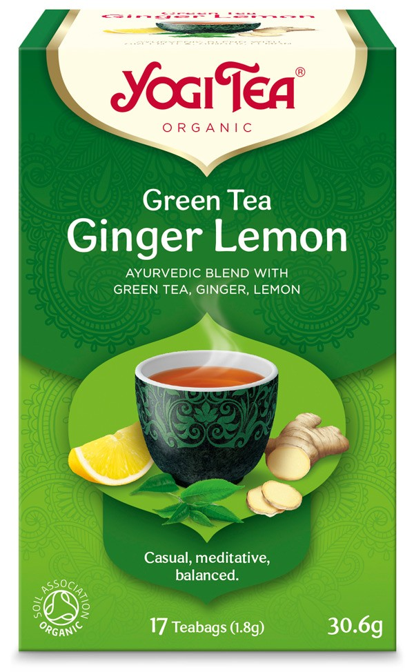 Ceai Bio VERDE, GHIMBIR SI LAMAIE Yogi Tea, 30.6 g