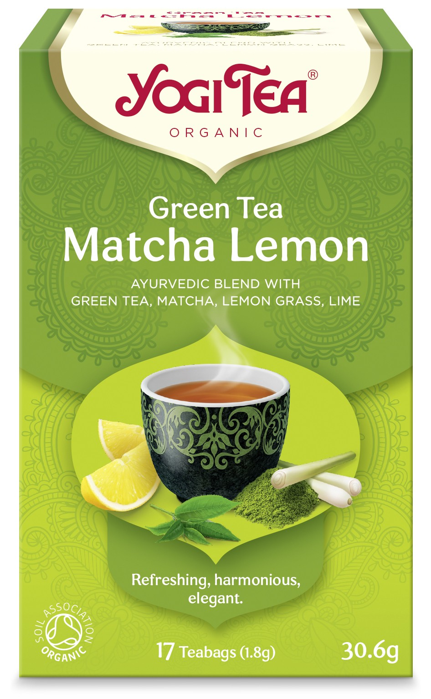 Ceai Bio VERDE Cu MATCHA SI LAMAIE, Yogi Tea, 30.6g