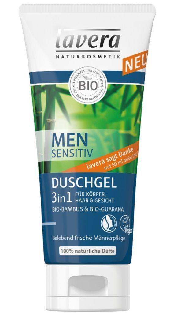 LAVERA – MEN Sensitiv – Gel de dus 3 in 1, 200 ml