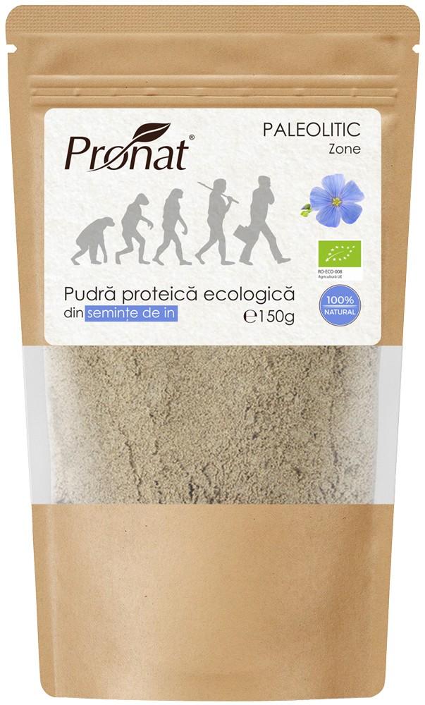 .Pudra proteica bio din seminte de in, 150g