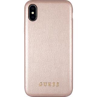 Husa Capac Spate Iridescent Piele Roz Auriu APPLE iPhone X, iPhone Xs
