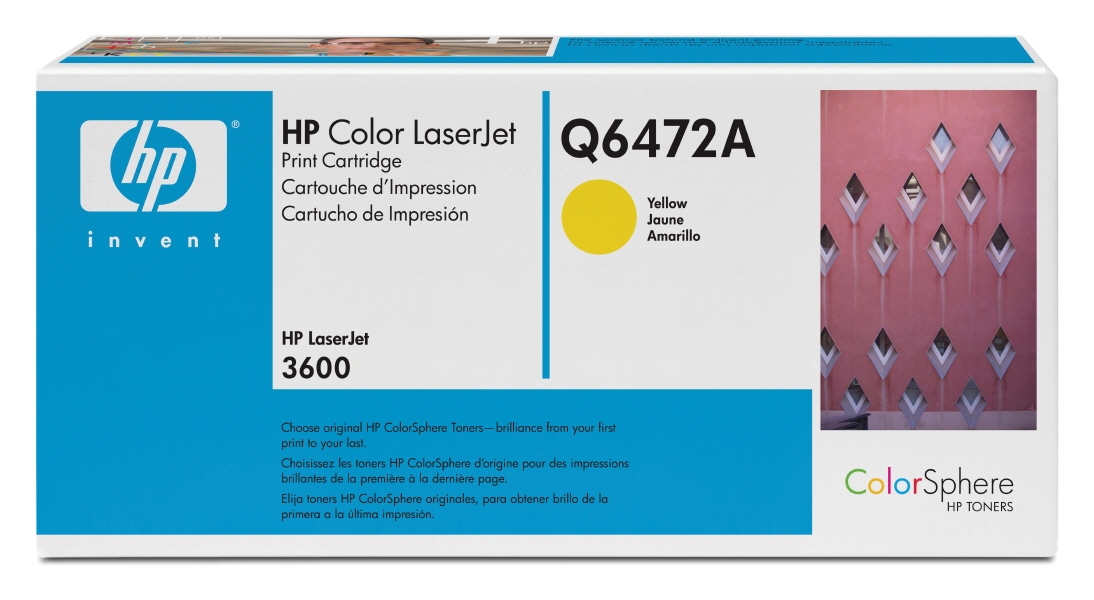 Cartus: HP Color LaserJet 3600 Series WITH CHIP - Yellow