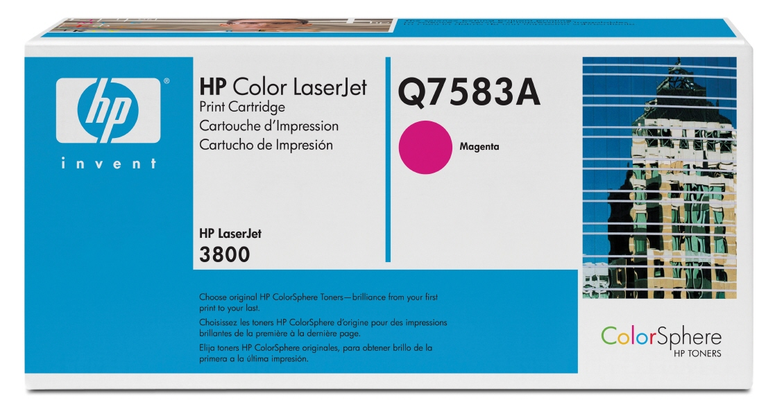 Cartus: HP Color LaserJet 3800, CP3505 Series WITH CHIP - Magenta