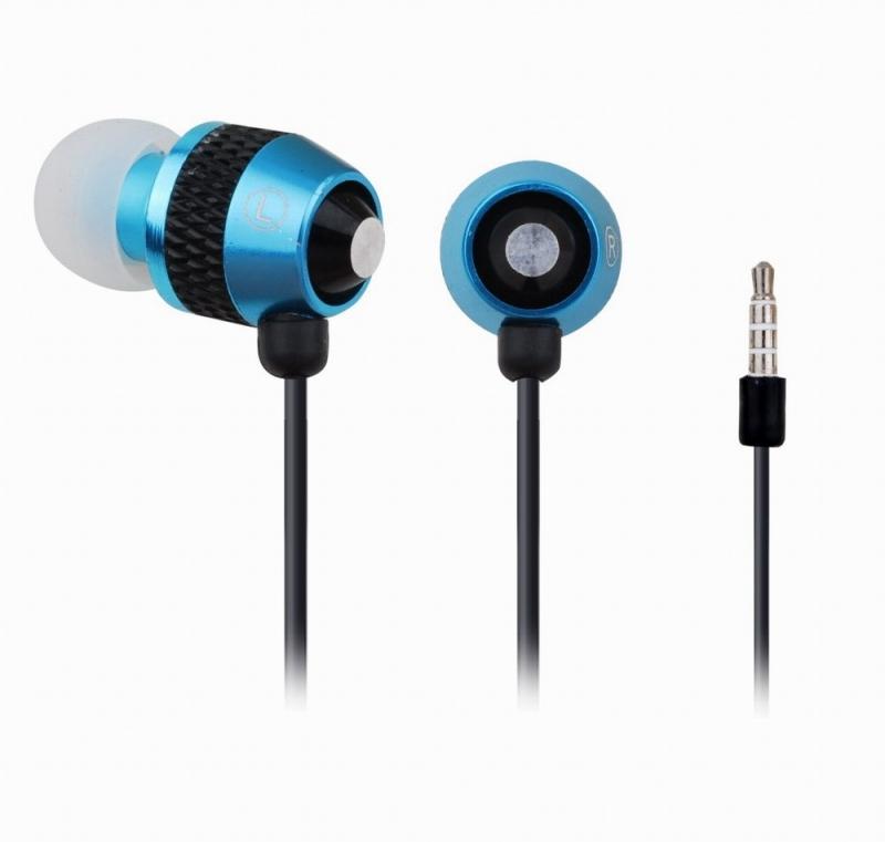 Casti interne cu microfon - metal, blue, GEMBIRD 'MHS-EP-002'