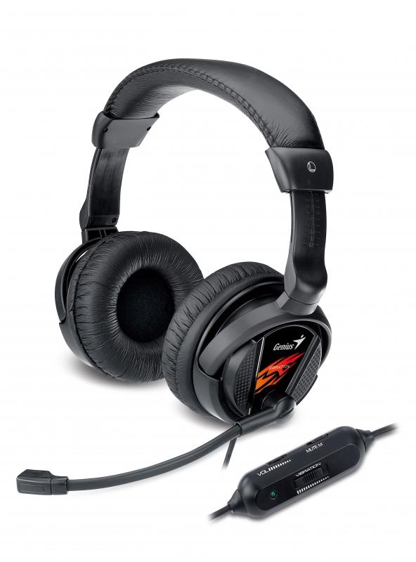 Casti GENIUS 'HS-G500V' + microfon noise cancelling, vibration '31710020101' (include timbru verde 0.01 lei)