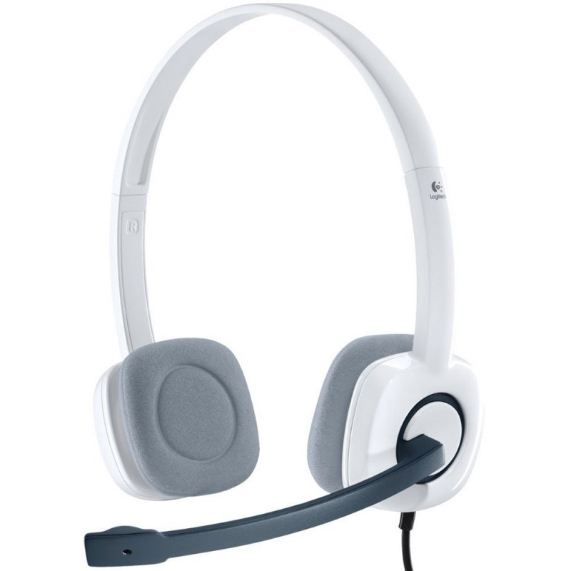 Casti Logitech 'H150' Stereo Headset with Microphone, Cloud White '981-000350' (include timbru verde 0.01 lei)